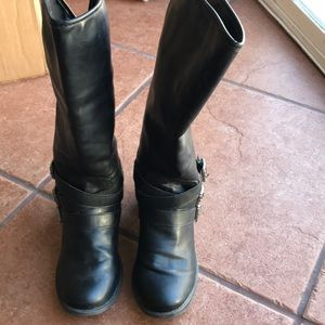 MADDEN GIRL BLACK BOOTS SIZE 8.5M
